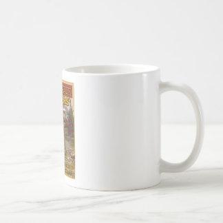 muestra de la caza del vintage taza básica blanca