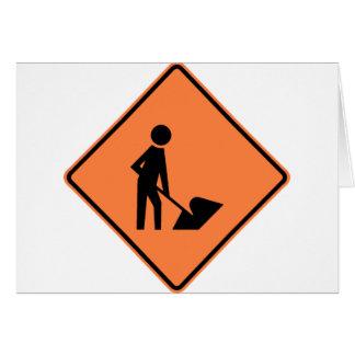 Muestra de la construcción de la carretera de la tarjeta de felicitación
