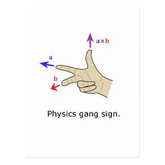Muestra de la cuadrilla de la física del producto postales