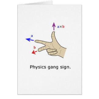 Muestra de la cuadrilla de la física del producto  tarjeta de felicitación