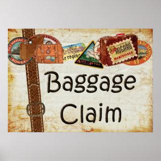 Muestra de la demanda de equipaje póster