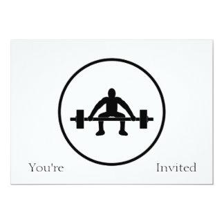 """Muestra de la elevación del peso invitación 5"""" x 7"""""""