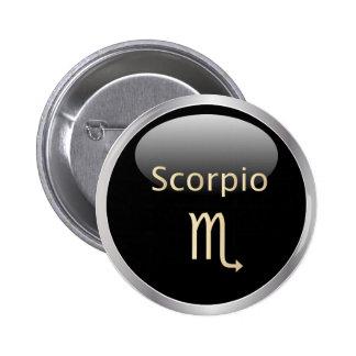 Muestra de la estrella de la astrología del zodiac pin redondo de 2 pulgadas