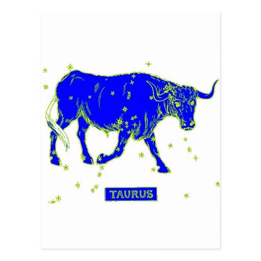 Muestra de la estrella del tauro tarjetas postales
