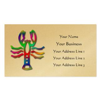 Muestra de la estrella del zodiaco del cangrejo de tarjeta de visita