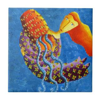 Muestra de la estrella del zodiaco del horóscopo azulejo cuadrado pequeño