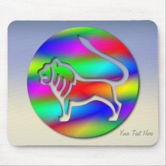 Muestra de la estrella del zodiaco del león del co alfombrillas de ratones