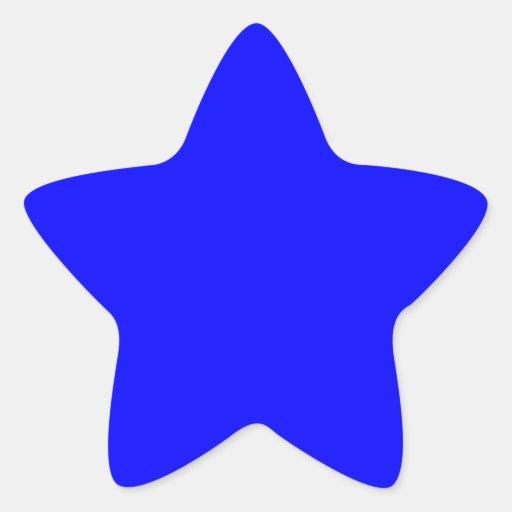 muestra de la estrella calcomania cuadrada personalizada