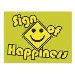 Muestra de la felicidad tarjetas postales