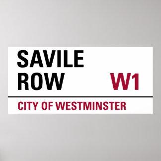 Muestra de la fila de Savile Póster