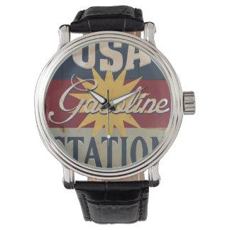 Muestra de la gasolina de los E.E.U.U. del vintage Relojes De Mano