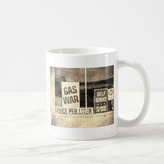 Muestra de la guerra del gas del vintage taza