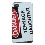 Muestra de la hija adolescente del peligro iPhone 4/4S carcasas