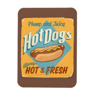 Muestra de la lata del vintage - perritos caliente imán de vinilo