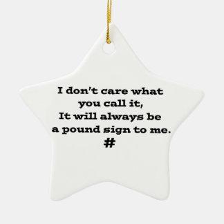 Muestra de la libra adorno navideño de cerámica en forma de estrella