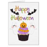 Muestra de la magdalena de Halloween Felicitación
