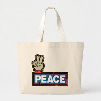 Muestra de la mano de la paz bolsa de mano