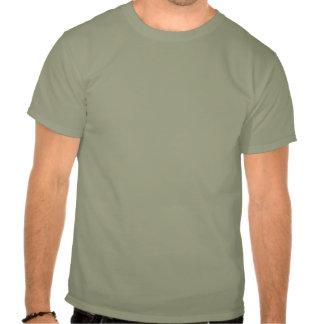Muestra de la mano de la paz en el color - grunge camiseta