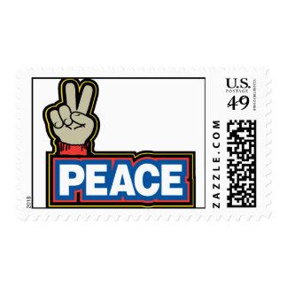 Muestra de la mano de la paz estampillas