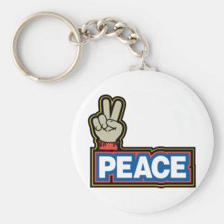 Muestra de la mano de la paz llavero