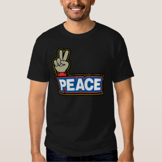 Muestra de la mano de la paz playera