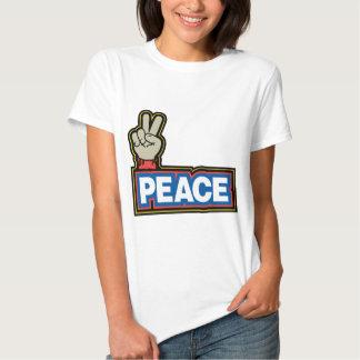 Muestra de la mano de la paz playeras