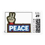 Muestra de la mano de la paz sellos