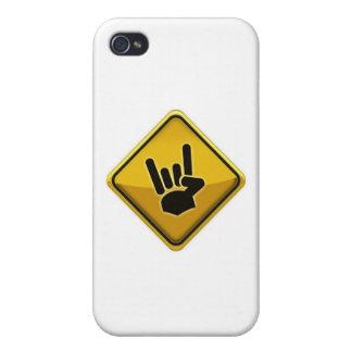 Muestra de la mano del diablo del tráfico de la se iPhone 4 protectores