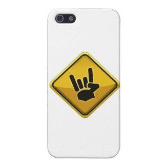 Muestra de la mano del diablo del tráfico de la se iPhone 5 fundas