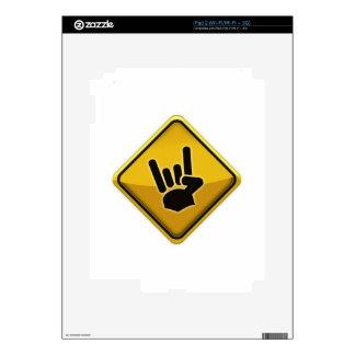 Muestra de la mano del diablo del tráfico de la se skins para eliPad 2