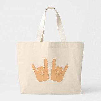 Muestra de la mano del rock-and-roll bolsa de mano
