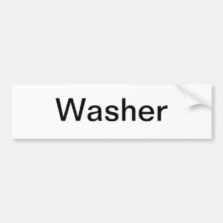 Muestra de la máquina del lavado pegatina de parachoque