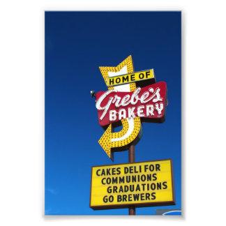 Muestra de la panadería del Grebe - muestra retra  Fotografía