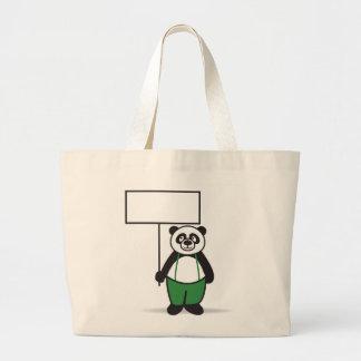 Muestra de la panda bolsa tela grande