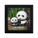 Muestra de la panda del parque zoológico de Ueno Cajas De Joyas