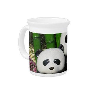 Muestra de la panda del parque zoológico de Ueno Jarrón