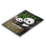 Muestra de la panda del parque zoológico de Ueno Cuadernos