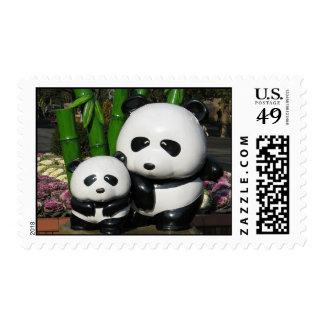 Muestra de la panda del parque zoológico de Ueno Timbres Postales