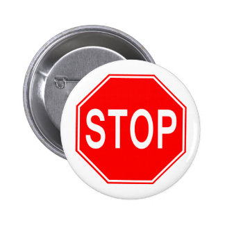 Muestra de la PARADA - botón Pin Redondo De 2 Pulgadas