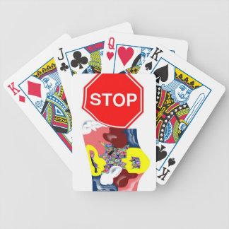 Muestra de la parada de los espaguetis cartas de juego