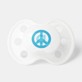 """Muestra de la paz del azul """"en"""" - en el símbolo + chupete de bebé"""