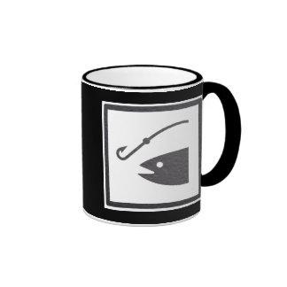 Muestra de la pesca tazas de café