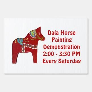 Muestra de la pintura del caballo de Dala Señal