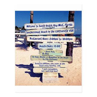 muestra de la playa de Key West la Florida Tarjetas Postales