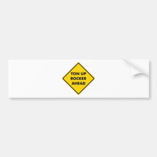 Muestra de la precaución de los ejes de balancín pegatina de parachoque