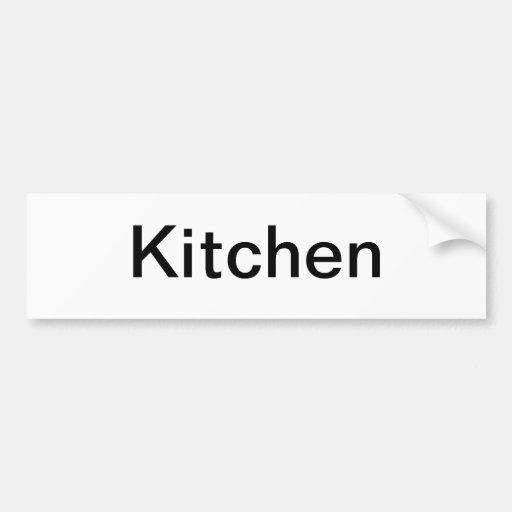 Muestra de la puerta de la cocina etiqueta de parachoque