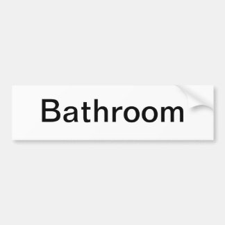 Muestra de la puerta del cuarto de baño etiqueta de parachoque