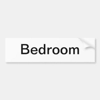 Muestra de la puerta del dormitorio pegatina de parachoque