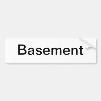 Muestra de la puerta del sótano pegatina de parachoque