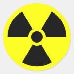 Muestra de la radiación etiquetas redondas